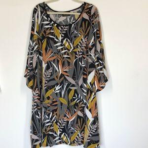 Bob Mackie Tropical Paradise Print Dress Size 1X
